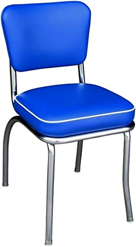 Richardson Seating Retro 1950 s Diner Side Chair in Royal Blue