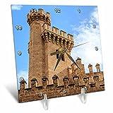 3dRose Danita Delimont - Castles - Spain, Balearic Islands, Mallorca, Palma de Mallorca, Almudaina palace - 6x6 Desk Clock (dc_277904_1)