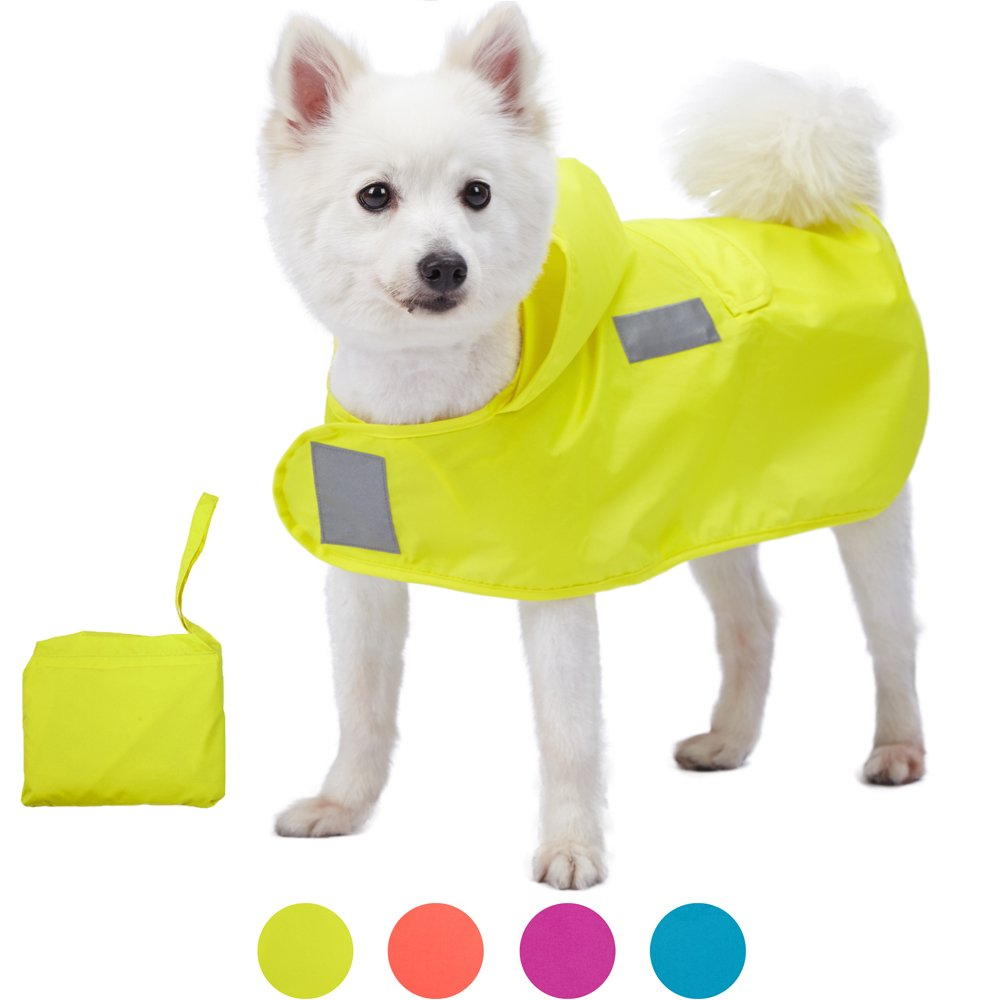 zhxinashu Large Dogs Raincoat Transparent waterproof Outdoor Clothes XS-6XL S