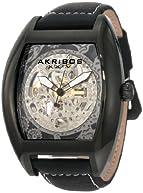 Akribos XXIV Men's AKR454WT Premier Skelton Automatic Tourneau Shaped Watch
