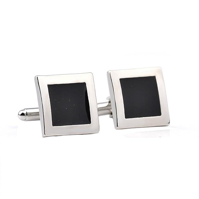 Gotas Cuadradas De Aceite Francés Camisa Mancuernas Hombres Accesorios Elegante,Black-M: Amazon.es: Ropa y accesorios