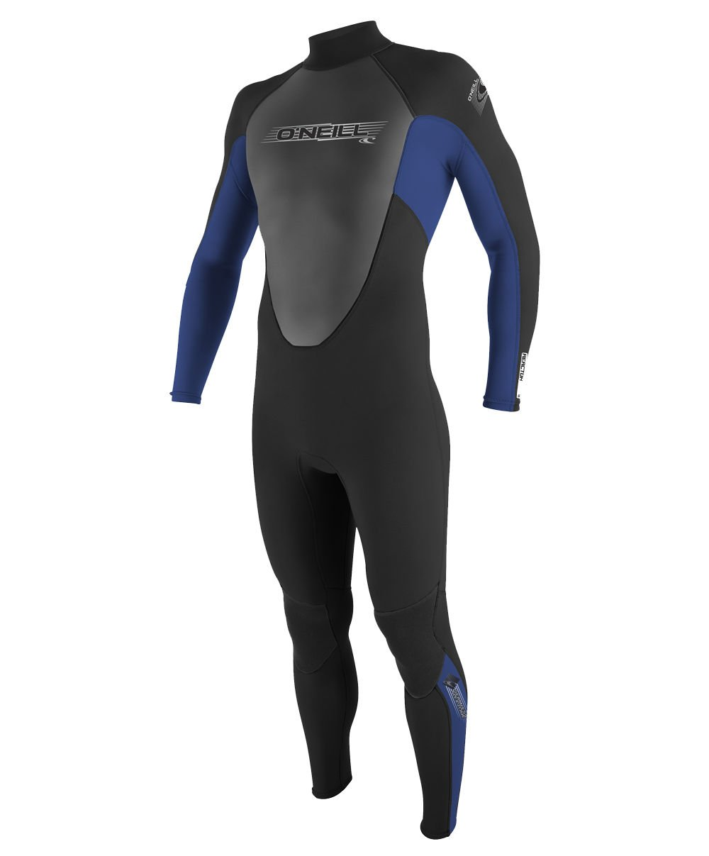 O'Neill Youth Reactor 3/2mm Back Zip Full Wetsuit, Black/Pacific/Black, 8 by O'Neill Wetsuits