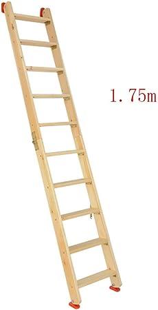 JB-TD Escalera Escalera De Madera Plegable, Escalera Lateral Doble En El Ático, Escalera Multifunción para El Hogar De Uso Doméstico Escalera Portátil para Escalar Al Aire Libre, 1.75/2 / 2.25M: Amazon.es: Hogar