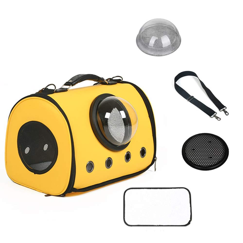 C TSDS Pet Space Bag Portable Pet Handbag Cat Dog Out Breathable Backpack Car Pet Backpack (color   C)