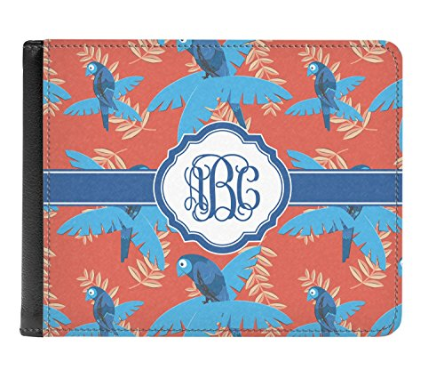 Leather Blue Genuine Blue Wallet Parrot Men's Parrot Genuine Leather fold Personalized Bi wpqxYtXxCc