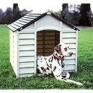 Große Hundehütte aus Kunststoff für den Außenbereich, widerstandsfähig