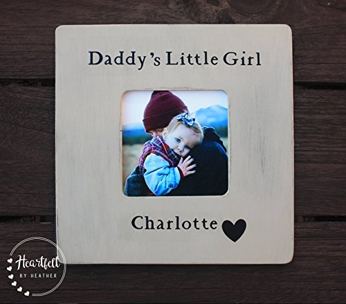 - Custom Daddy's Little Girl Picture Frame - Personalized Photo Gift for New Dad - First Father's Day Gift