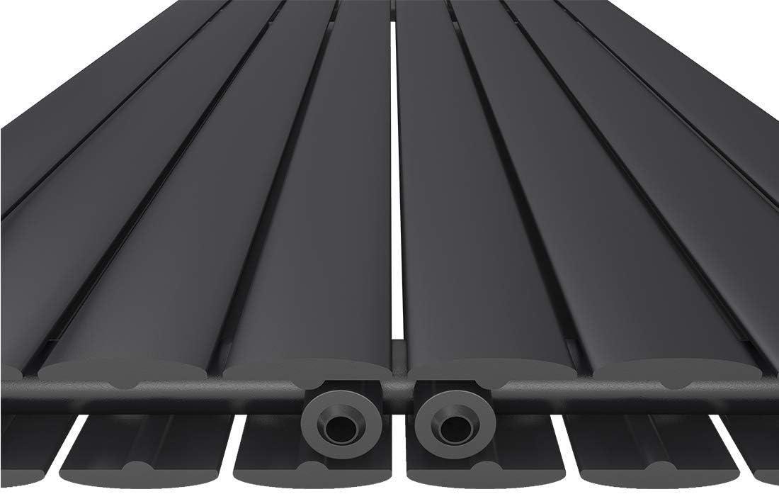 Designer Heizung Seitenanschluss Horizontal Wei/ß 1598 Watt Design Heizk/örper Doppellagig Wandheizk/örper Oval 600x1000mm