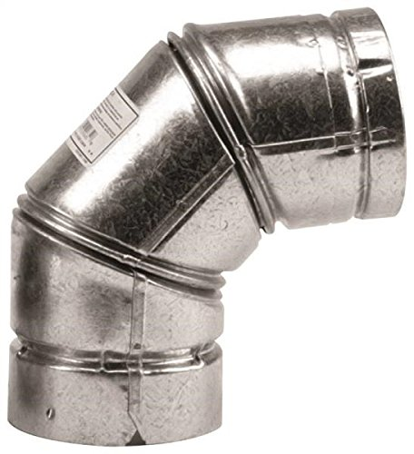 Galvanized Stove Pipe (Selkirk 243231/243230 Type L Vent Stove Pipe Elbow, 3