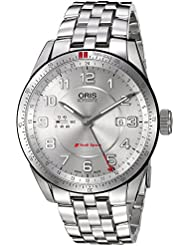 Oris Mens Audi Swiss Stainless Steel Automatic Watch, Color:Silver-Toned (Model: 74777014461MB)