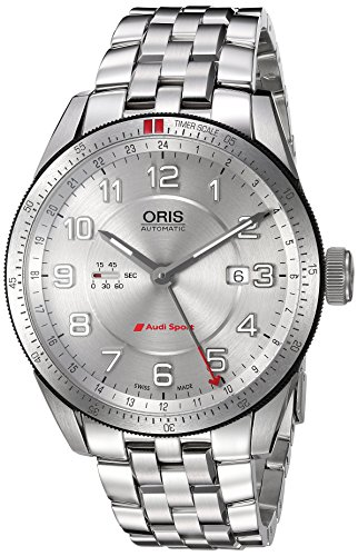 Oris Men's 'Audi' Swiss Stainless Steel Automatic Watch, Color:Silver-Toned (Model: 74777014461MB)
