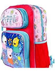 Peppa the Pig Backpack 16 Tote Travel Bag Blue/Pink