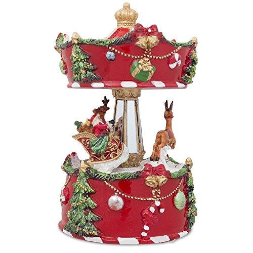 BestPysanky Christmas Musical Carousel with Santa and Reindeer