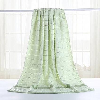 Toallas de algodón para absorber el agua hijos adultos establece pareja femenina pequeña cuadrícula pequeña toallas