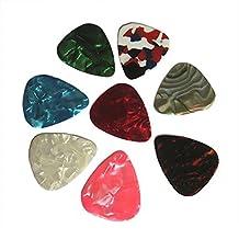 SODIAL(R) 20pcs Thin Guitar Picks 0.46mm / 0.71mm Random Colour