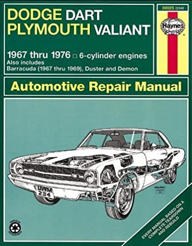 dodge dart plymouth valiant 67 76 haynes repair manuals haynes rh amazon com 2013 dodge dart service manual pdf dodge dart service manual