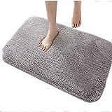 DADA Bath Mat Bathroom Rug Non-slip Absorbent Luxury Soft Fluffy Microfiber 50x80 cm Grey - 3 Sizes 5 Colors Available