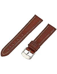 Hadley-Roma Men's MSM886RB-200 20mm Brown Genuine Shrunken Leather Watch Strap