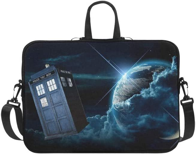 CHRISTIE QUINN Police Box Tardis and Planet Earth Messenger Laptop Bag (17
