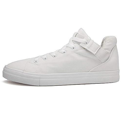 Zapatos de Lona BOBOLover, Zapatos Casuales de Hombre Botines con Cordones Tobillo Zapatos Casual Zapatos de Lona Altos Zapatos de Skate clásicos Ocio ...