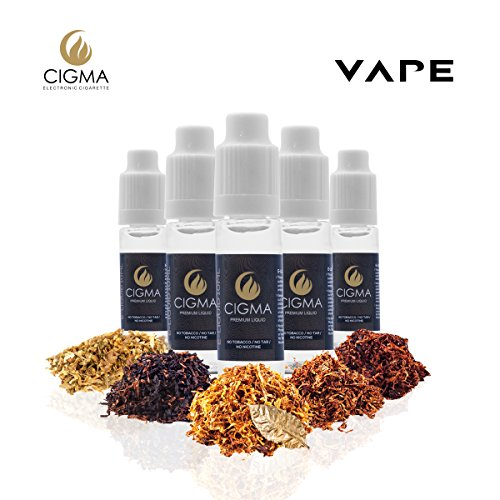 CIGMA 5 X 10ml E Liquid Worldwide Tobacco Mix | Gold Tobacco - Turkish...