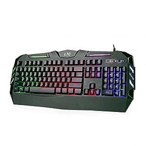 LeaningTech LTC K902 Rainbow RGB Backlit 19-key Anti-Ghosting Waterproof USB Wired Mechanical Feeling Office Gaming Keyboard – US Layout