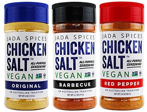 Chicken Salt - Vegan, Non-GMO, NO MSG, Gluten Free, Australia's #1 All-Purpose Seasoning (Red Pepper, Original & Barbecue) (Best Rice Cooker Australia)