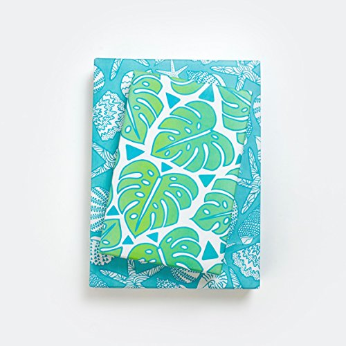 - Monstera Leaf Jungle/Tropical Beach Shells Wrapping Paper (3-Sheets) - Double-Sided & Eco-Friendly Gift Wrap