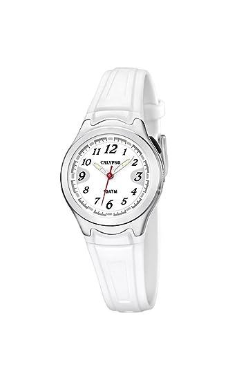 Calypso watches K6067 - Reloj de Cuarzo para Mujer, Correa de plástico Color Blanco: Calypso: Amazon.es: Relojes