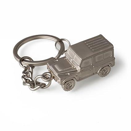 Auténtica Land Rover Defender 3d llavero en plata: Amazon.es ...