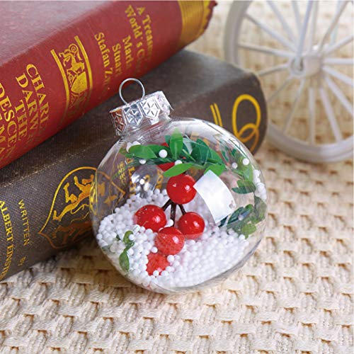 TARGER Transparent Christmas Tree Ball Ornaments Shatterproof Christmas Decorations Tree Balls Holiday Decor Gifts 3.15in.(Ball Shape) (Transparent Ornaments Christmas)