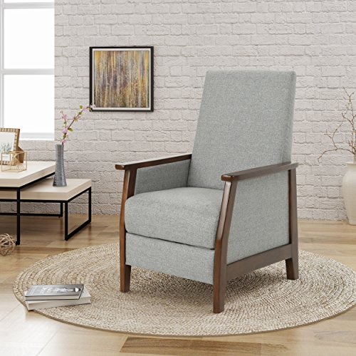 Alex Chair - Christopher Knight Home 304984 Alex Push Back Recliner, Grey + Brown