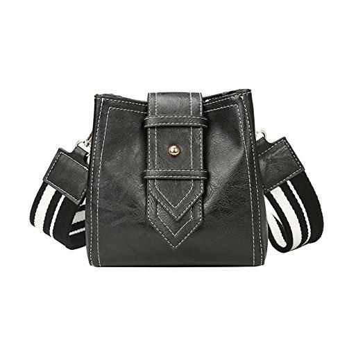 Bolso de hombro solo moda personalizada Bolsa de ocio cien vueltas Bolsa de moda retro cinturón ancho cubo-C C
