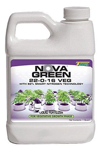 Nova Green 22-0-16 Fertilizer - Hydroponic, Soil and Foliar Feed - 1qt.