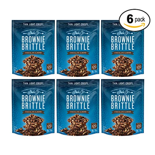 Sheila G's Brownie Brittle, Chocolate Almond, 5 Ounce Bag (Pack of 6)