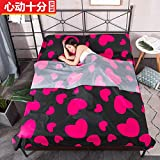 HOKUGA Outdoor Travel Portable Hotel Cotton Sleeping Bag Student Adult Indoor Polyester Fitted