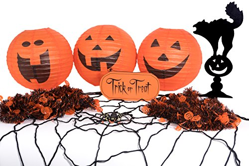 Halloween Room Decorating Decorations Kit 8pc Halloween Party Decorations Instantly Transforms a Room with Trick or Treat Sign & Other Halloween Decorations! Great for Halloween Office Decorations!