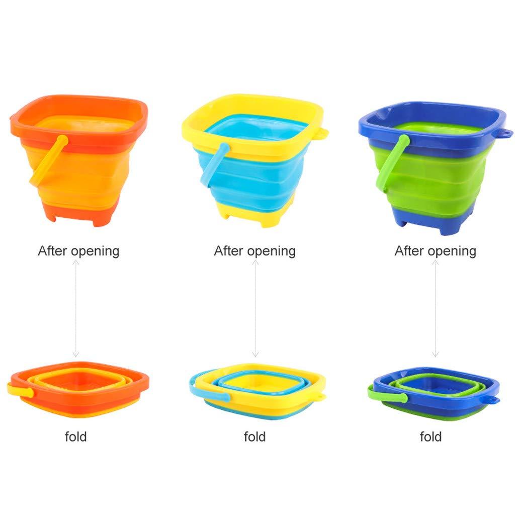 TANGON Beach Bucket Multifunctional Mold Sand Buckets Party Favor Sand Box Blue