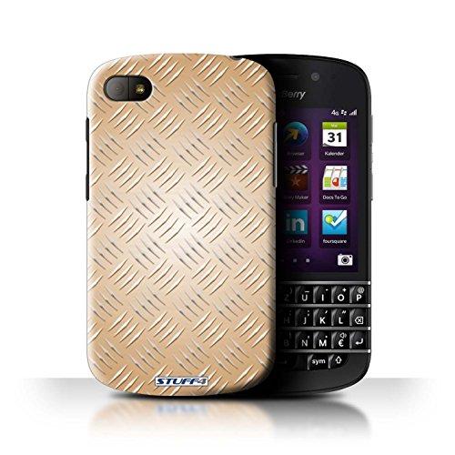 Coque de Stuff4 / Coque pour Blackberry Q10 / Or Design / Motif en Métal en Relief Collection