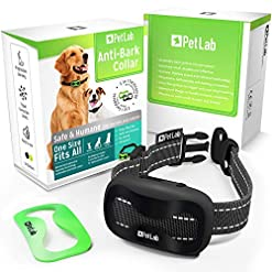 PetLab Dog Anti Bark Collar for Small Large Dogs No Shock Barking Collars Anti Barking Device Training Dog Barking… Health and Household