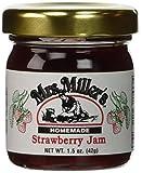 Mrs. Miller's Amish Homemade Strawberry Jam Mini Travel Set - 4 Small Jars - 1.5 Ounces Each