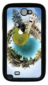 Small World Custom TPU Case Cover for Samsung Galaxy Note 2/ Note II/ N7100 Black
