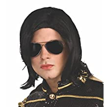 Rubies Costume Co Michael Jackson Long Straight Wig and Glasses