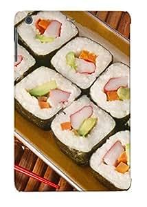 Durable Defender Case For Ipad Mini/mini 2 Tpu Cover(food Sushi Chopsticks )