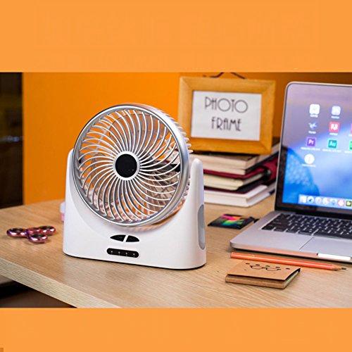 ZQ 4 inch Portable USB Charging Small Fan,Student Dormitory Office Computer Desktop Desktop Fan,C