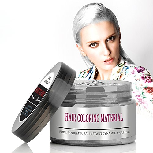 BMK Silver Gray Color Hair Wax Temporary Silver Ash Wax Hairstyle Hair Dye Wax for Party, Cosplay, Nightclub, Masquerad, Halloween (Upgrade Version) for $<!--$10.99-->
