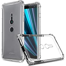 Zeking Slim Thin Anti-Scratch Clear Flexible TPU Silicone Four Corner Bumper Protective Case Cover Compatible Sony Xperia XZ3(Transparent)