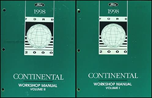 1998 lincoln continental repair shop manual original 2 volume set rh amazon com 1995 Lincoln Continental 1995 Lincoln Continental