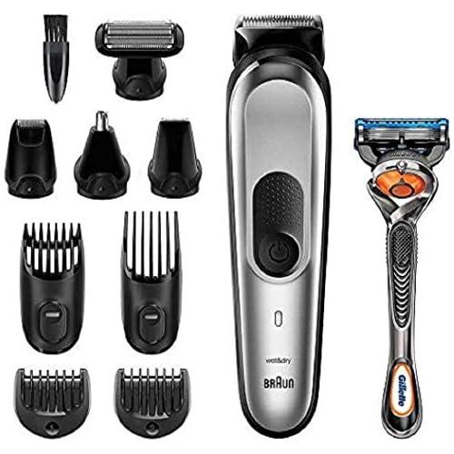 chollos oferta descuentos barato Braun MGK7020 10 en 1 Máquina recortadora barba y cortapelos todo en uno con afeitadora cuerpo nariz y oreja