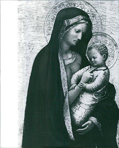 (Vintage photo of Madonna Casini (Madonna del solletico), Masaccio, 1426-1427, tempera e oro su tavola, 24,5215;18,2 cm, Galleria degli Uffizi, Firenze.)